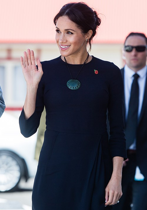 The Duchess also wore a beautiful Pounamu Kouma necklace, which was created by leading Maori designer Kiri Nathan and carved by Jason Nathan.*(Image: Getty Images)*