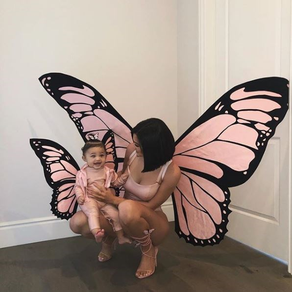 It's no secret that Kylie Jenner LOVES butterflies, so it was only fitting that she dressed Stormi in matching butterfly costumes.