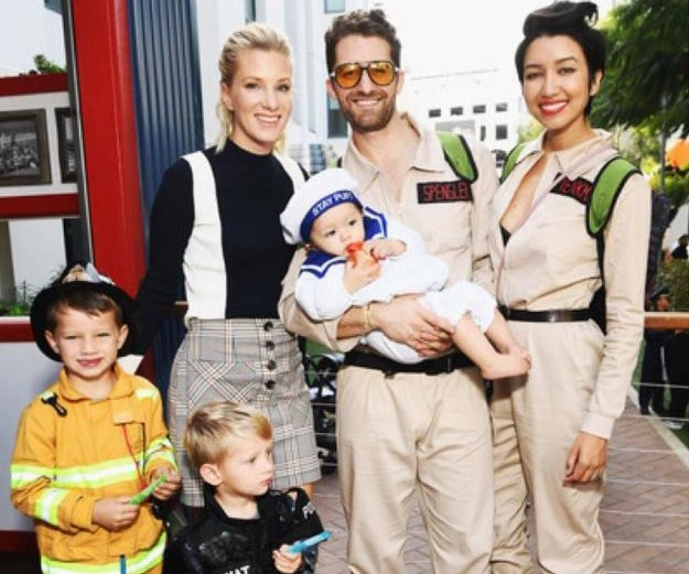 *Glee* alum Matthew Morrison and his wife Renee Puente dressed as *Ghostbusters*, while their bub, Revel dressing as Puft Man.