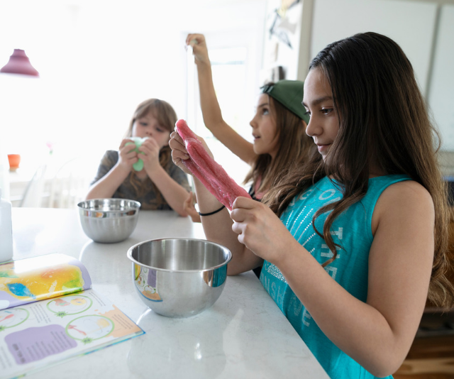 Making slime is a super-fun science project to take on at home. *(Image: Getty Images)*