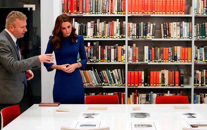 The event was an enlightening one for Kate as she learnt about her family's connections to the war. *(Image: Getty)*