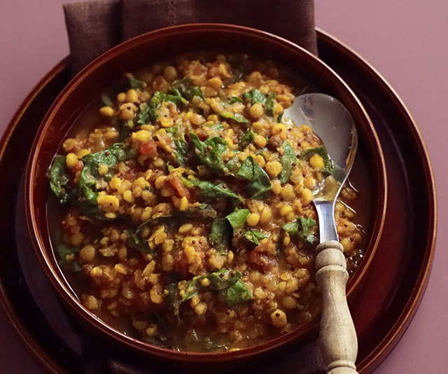 Silver beet dhal