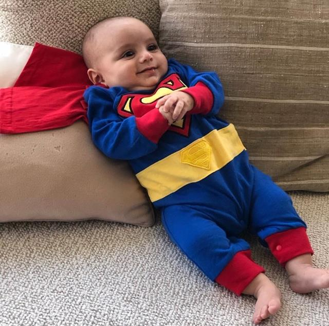 For Eva Longoria's bub, Santiago, it was his very first Halloween and his actress mum dressed him as Superman!