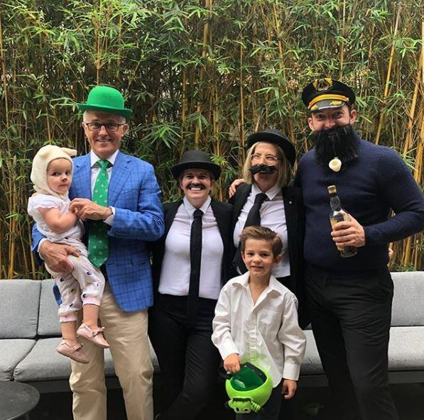 Former Prime Minister Malcolm Turnbull and his family also rose to the occasion, dressing up as characters from *Tin Tin*!