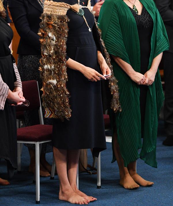 The Duchess never puts a foot out of line – except when she takes her shoes off. *(Image: Getty Images)*