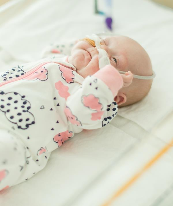 Born at just 24 weeks, Piper spent her first few months in hospital. *(Image: Scott McNaughton)*