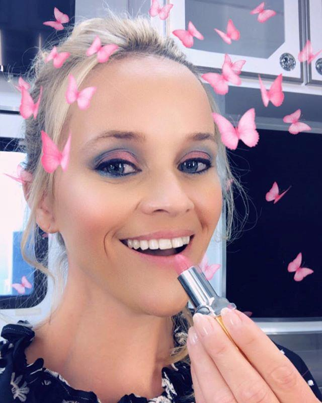 Reese Witherspoon is a big lippy fan! *(Image: Instagram / @reesewitherspoon)*
