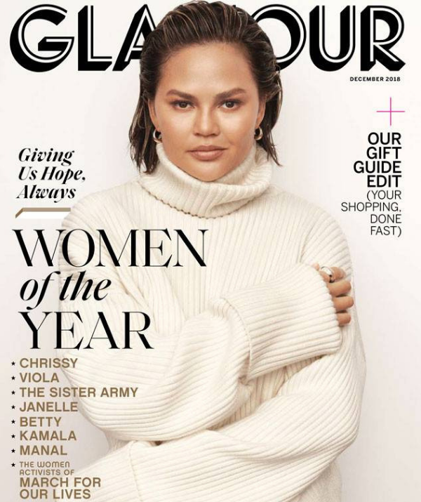33-year-old Chrissy has just received *Glamour* magazine's Woman of the Year honour. *(Image: Glamour/Tom Schirmacher)*
