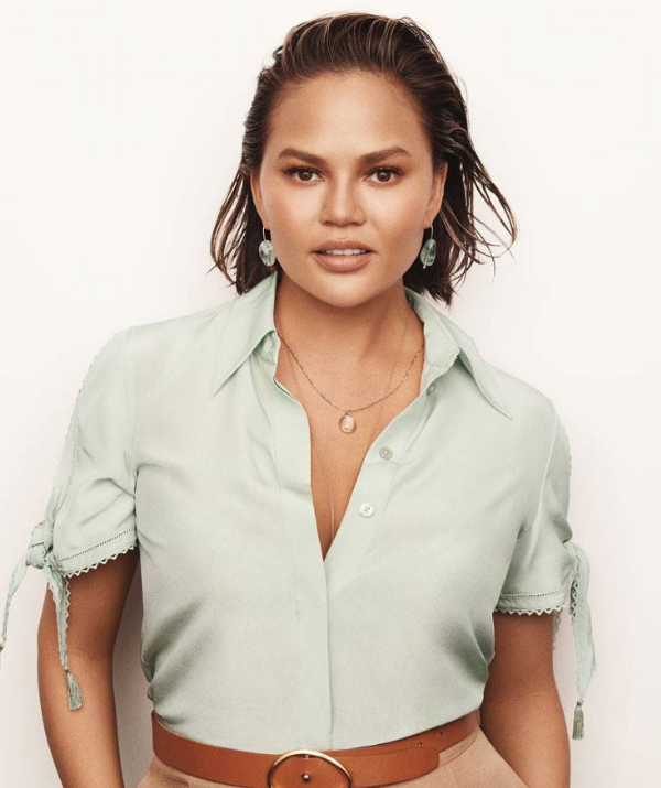 Chrissy Teigen's refreshingly honest take on motherhood has won her legions of fans. *(Image: Glamour/Tom Schirmacher)*