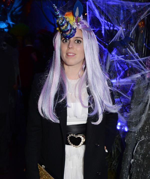 HRH Princess Unicorn of York arrives at Annabel's nightclub in London for Halloween. *(Image: Getty Images)*