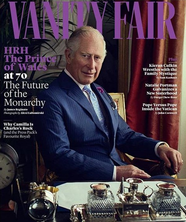 The Prince's life has been detailed in a revealing feature for *Vanity Fair*. *(Image: Vanity Fair)*