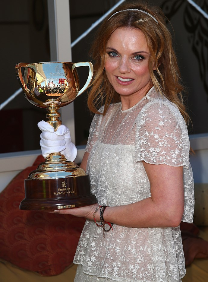 Geri Halliwell at Melbourne Cup in 2013.