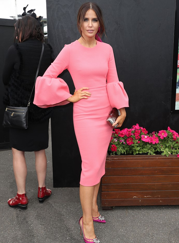 Jodi Anasta at Melbourne Cup in 2016.