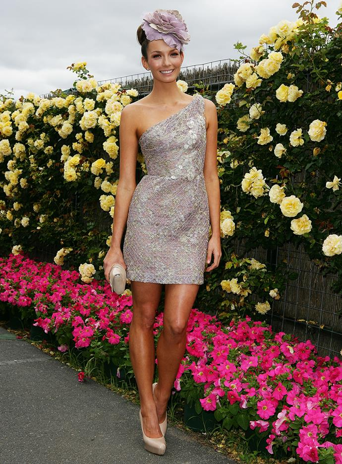 Ricki-Lee Coulter at Melbourne Cup in 2011.