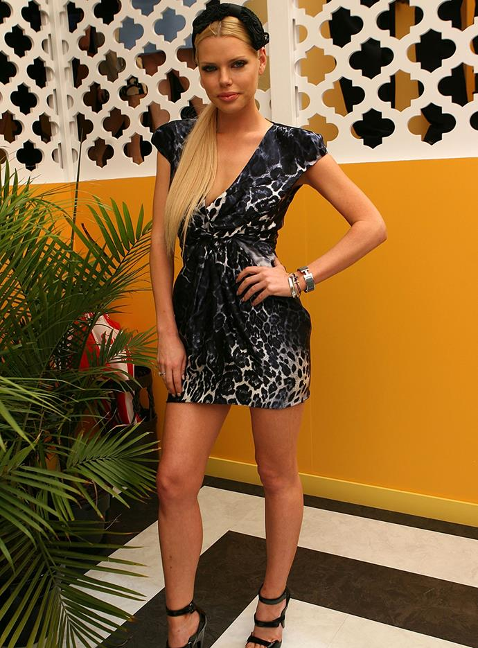 Sophie Monk at Melbourne Cup in 2009.