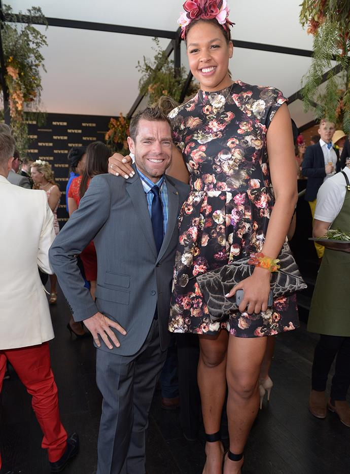 Cadel Evans and Liz Cambage Melbourne Cup in 2013.