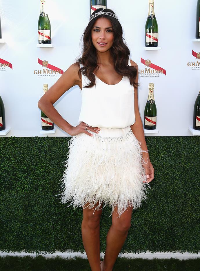 Pia Miller at Melbourne Cup in 2013.