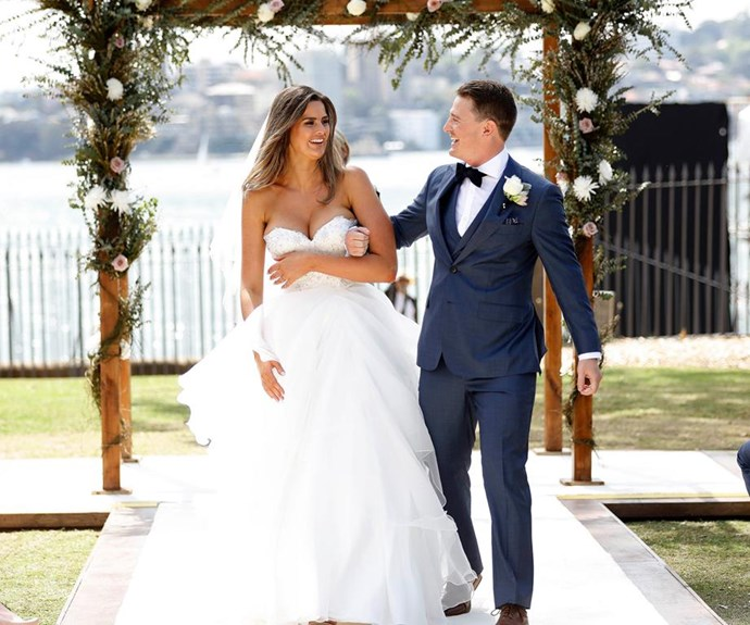 It's onwards and upwards for Chez! *(Image: Channel Nine)*
