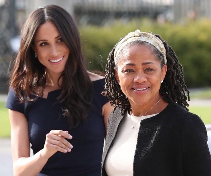 Duchess Meghan and her mother, Doria Ragland, 62 on the eve of the royal wedding. *(Source: Getty Images)*