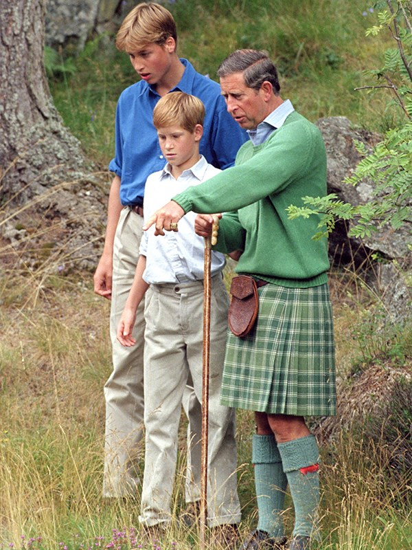 William and Harry revealed their father Prince Charles used to take them litter-picking in the school holidays. *(Image: Getty)*