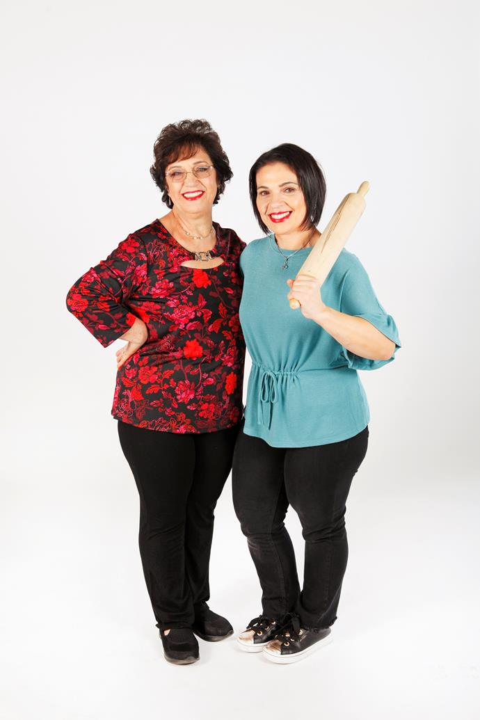 Concetta and her mum Pina are battling it out on *Family Food Fight.* *(Image: Channel Nine)*