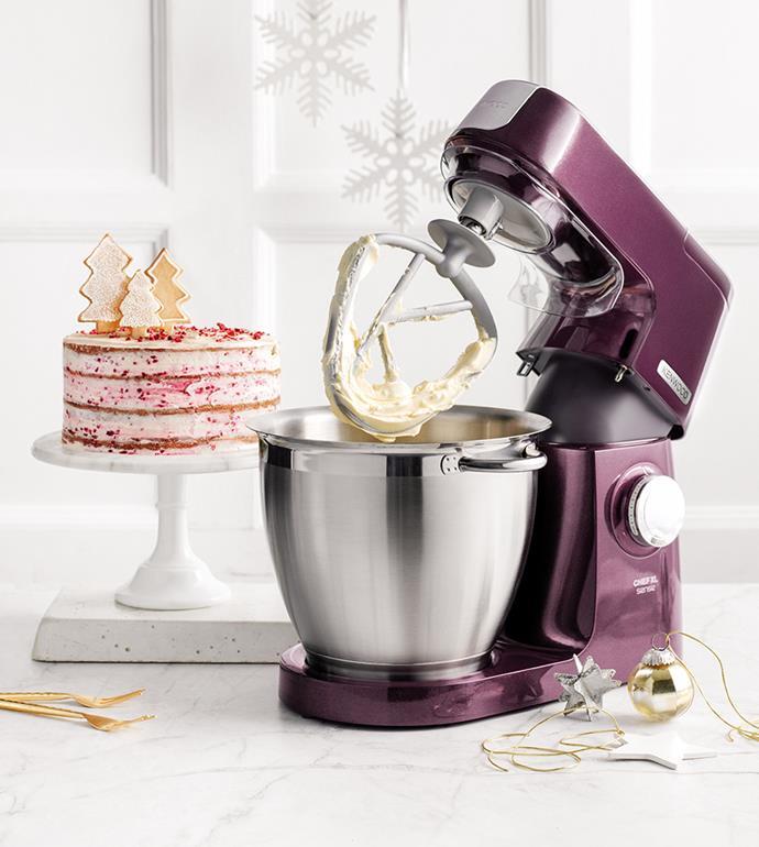 "[Kenwood Chef XL Sense Stand Mixer](https://www.harveynorman.com.au/kitchen-appliances/food-preparation/mixers-food-processors/kenwood+appliances/mixers/993-1065|target=""_blank""|rel=""nofollow""), $499 at Harvey Norman"