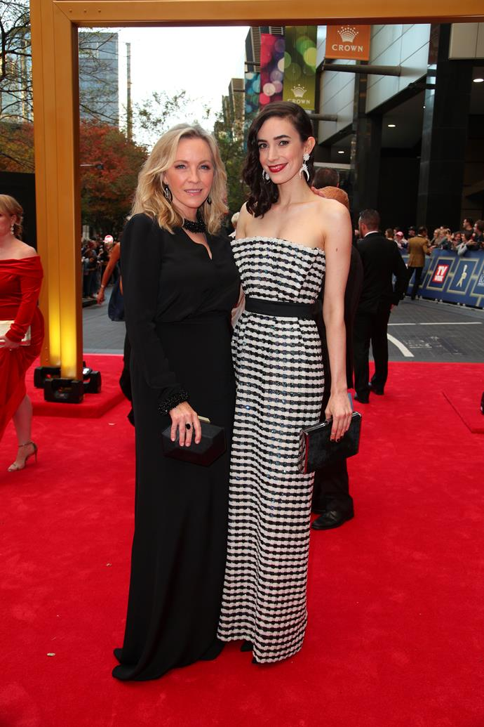 Rebecca and Geraldine at the 2017 TV WEEK Logie Awards.