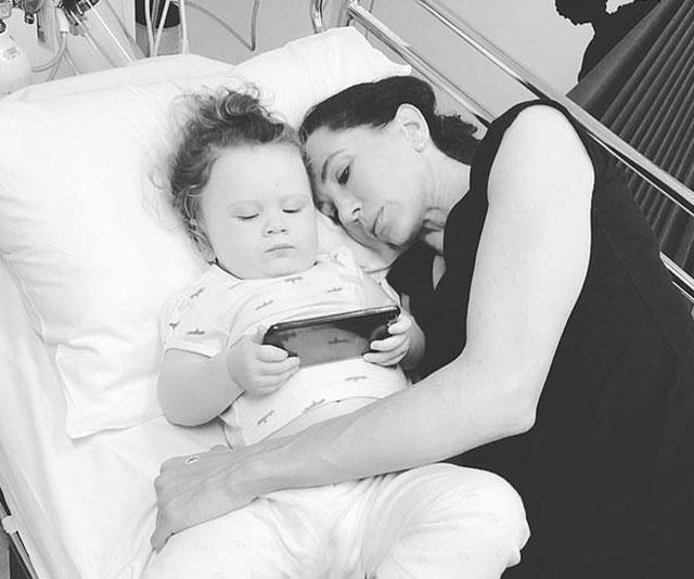 Kelsey was also taken to hospital in February. *(Image: Michael Clarke Instagram)*