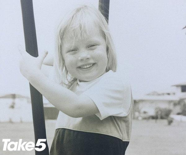 Sara as a child.