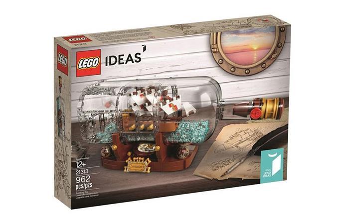 """[Lego Ideas Ship in a Bottle](https://www.myer.com.au/p/ship-in-a-bottle-217953910-617178430 target=""""_blank"""" rel=""""nofollow""""), now $99"""