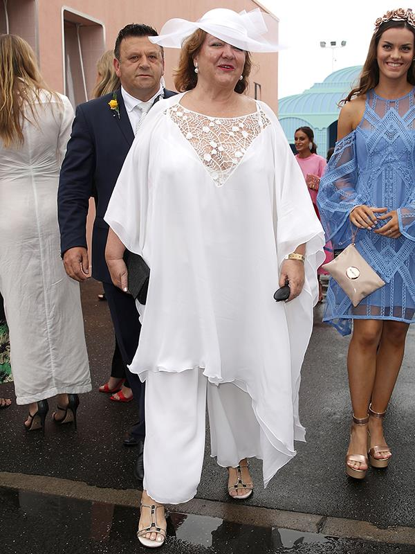 Mining magnate Gina Rinehart opted for all white. *(Image: Getty Images)*