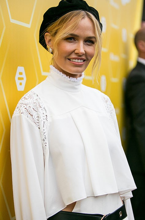 "Being [Lara Bingle...](https://www.nowtolove.com.au/tags/lara-bingle|target=""_blank"") The Aussie model opts for a Parisian-inspired look.  *(Image: Media Mode)*"