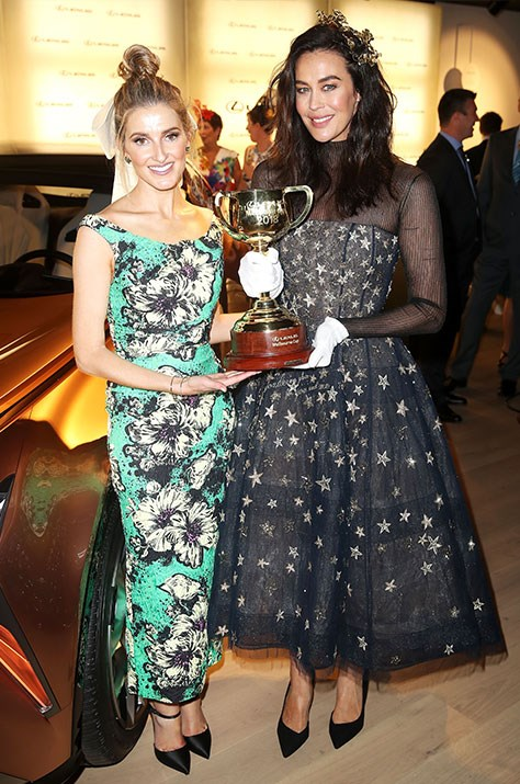 Rubbing shoulders with royalty! Kate and Megan get up close and personal with *the* Melbourne Cup. *(Source: Getty)*