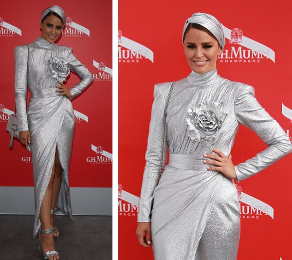 Actress Jodi Gordon channels her inner space invader in this futuristic look. *(Image: Media Mode)*