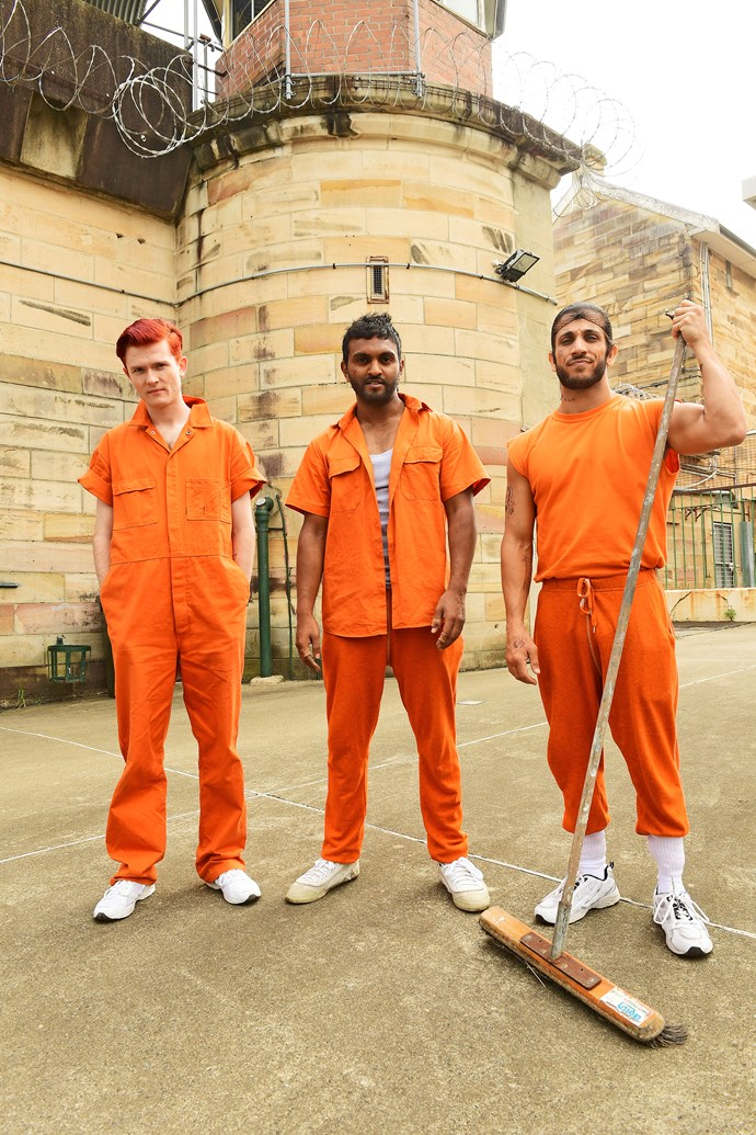 Rhys Nicholson, Nazeem and Firass Dirani in a scene for *Orange Is The New Brown.*