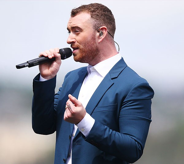UK singer Sam Smith performs before the race. *(Image: Getty)*