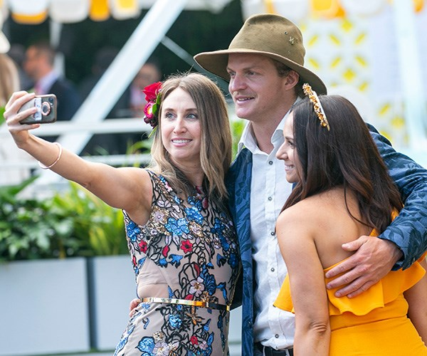 Nick took some time for a few selfies with his fans. *(Image: Media Mode)*