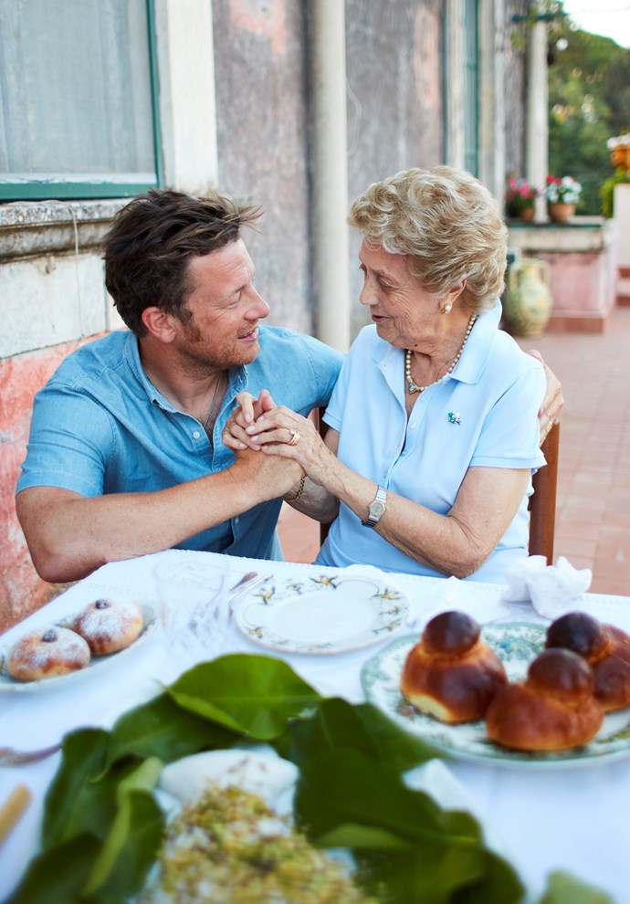 Jamie Oliver and Nonna Marla.