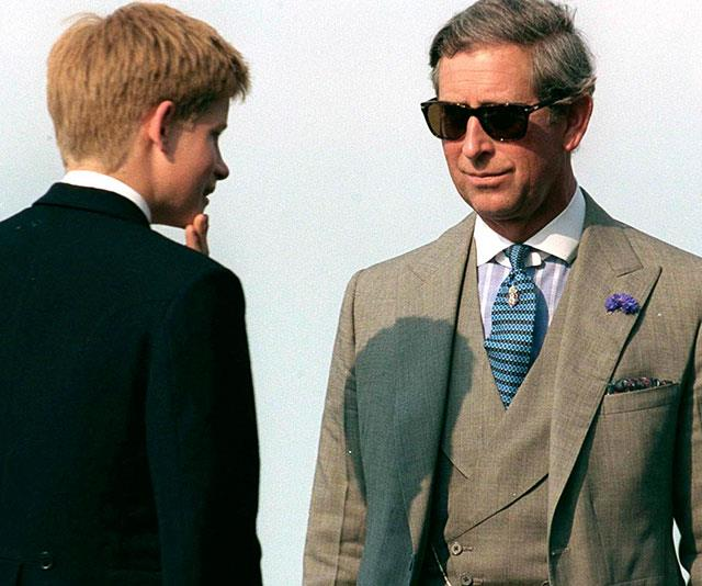 The name's Charles, Prince Charles: We're getting serious James Bond vibes thanks to those trendy shades. *(Image: Getty)*