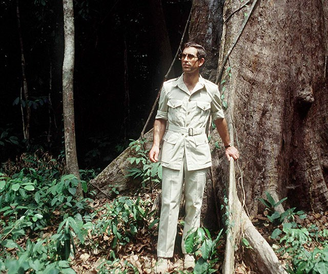Has anyone rocked a safari suit as well as Prince Charles, pictured here during a visit to Cameroon in 1990? We think not! *(Images: Getty)*