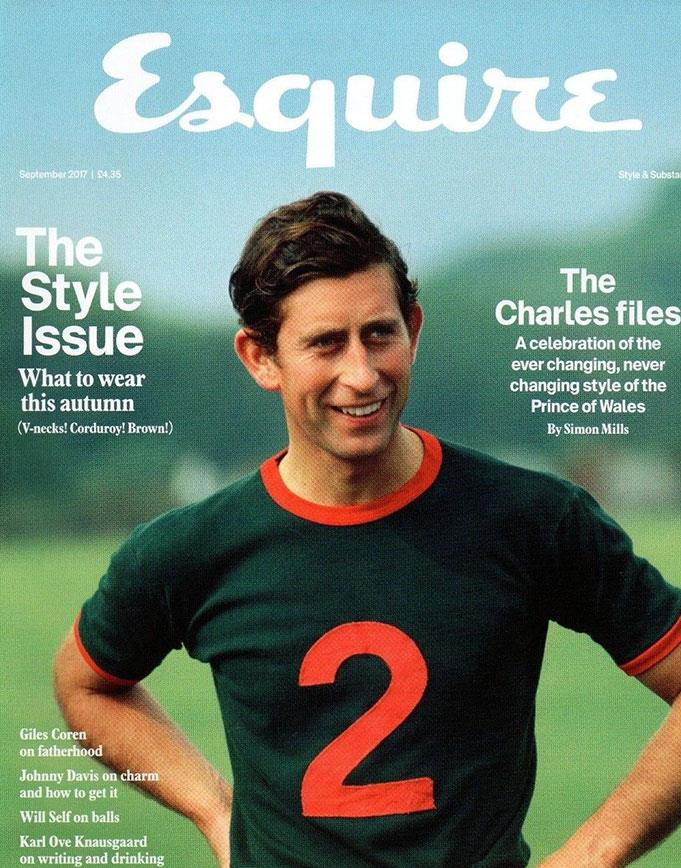 Charles' timeless style was honoured just last year, when he was made the *Esquire* cover star. *(Image: Esquire)*