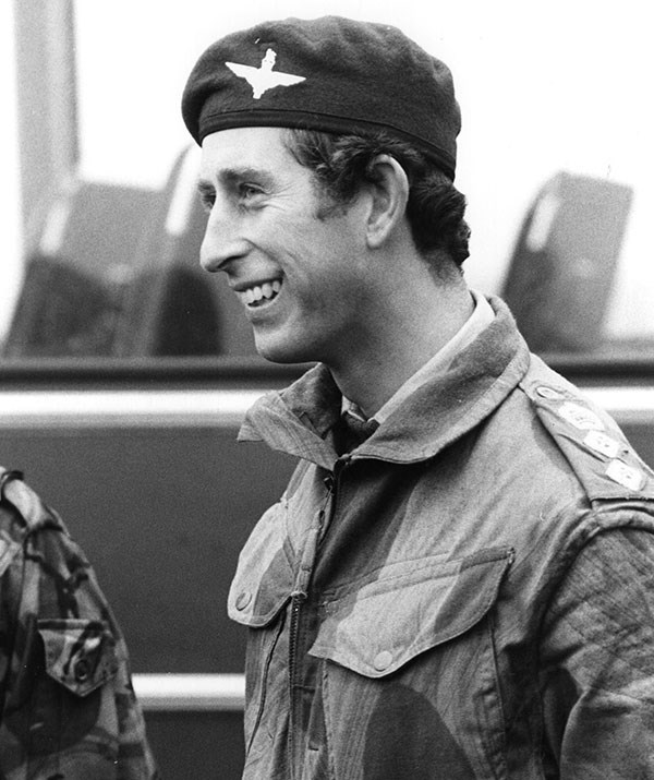 As well as his tireless work to help build a sustainable future, Prince Charles is a decorated serviceman, having worked in the Royal Air Force and Royal Navy. Here, Charles completes his Parachute training as Colonel-in-Chief of the Parachute Regiment at RAF South Cerney in 1978. *(Image: Getty)*