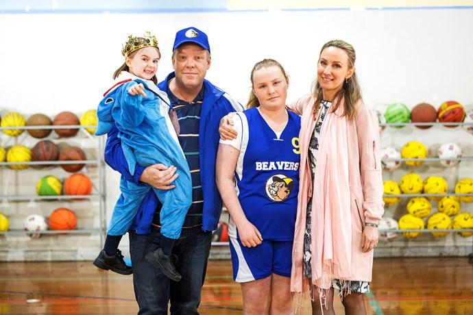 *HTSM* stars from left: Vivien Turner, Peter, Willow Ryan-Fuller and Lisa McCune.