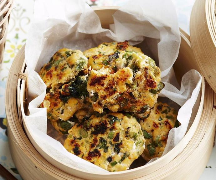 """**Sweet chilli fish cakes**  Fish cakes are fabulous finger food for little hands or, paired with a salad or steamed veggies, make a hearty, nutritious meal. These have a dollop of sweet chilli sauce which young palates will enjoy and just enough heat to make them interesting.   *Find the recipe for these tasty fish cakes* [*here*](https://www.womensweeklyfood.com.au/recipes/fish-cakes-17901