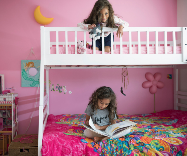 "Child friendly bunk beds: Bunk beds are a great space saver, but are they safe? Read all about [bunk beds for kids here.](https://www.nowtolove.com.au/parenting/family/are-bunk-bed-safe-for-kids-52062|target=""_blank"") *Image: Getty Images.*"