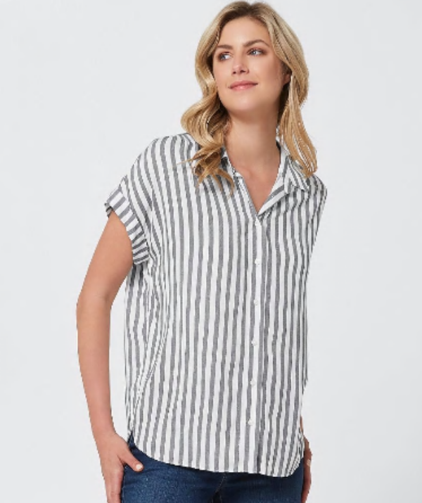 **Buttons save the day:** Button down shirts and blouses offer great easy access to your breasts for feeding, allowing you to remain covered up in other areas if that is what your after. There is no need to layer with a button down shirt, making it a great cooler option for warmer weather. Target (pictured) always stocks an extensive range of button up shirts and blouses.