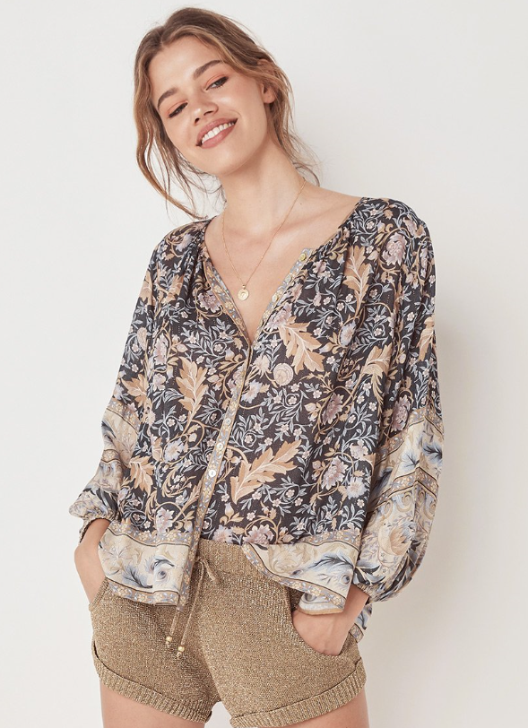 "**Bohemian style blouses re comfortable and on trend:** Loved by celebs like [Elsa Pataky](https://www.nowtolove.com.au/parenting/celebrity-families/elsa-pataky-byron-bay-mums-51431|target=""_blank""), bohemian style, flowing fashion is a comfortable and practical option for new mums. Go for loose, cotton rayon blends for the best comfort and flow. Usually button down or tie up, these styles offer easy access and plenty of fabric to adjust for your best comfort while feeding. Elsa is a big fan of Byron Bay brand [Spell & The Gypsy Collection (pictured)](https://shop.spelldesigns.com.au/collections/tops 