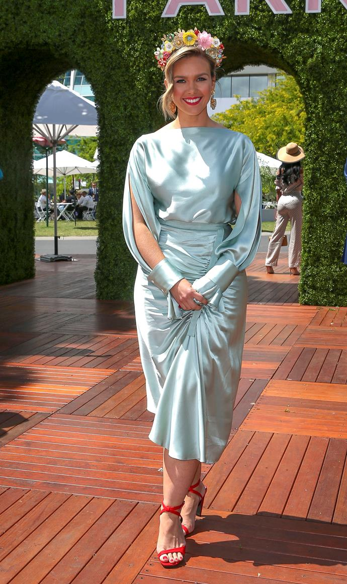 *Sunrise* host Edwina Bartholomew is totally rocking this 1920s garden party look. *(Source: Media Mode)*