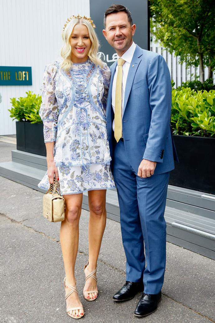 Ricky and Rianna Ponting were #couplegoals at Oak's Day! *(Source: Getty)*