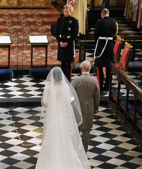 Meghan's father Thomas Markle dropped out of giving her away, citing heart problems. *(Image: Getty Images)*
